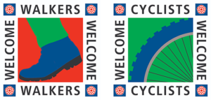 Welcome walkers and cyclists