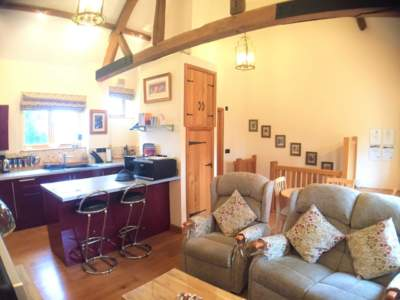 The Granary Open living area at Church House Farm