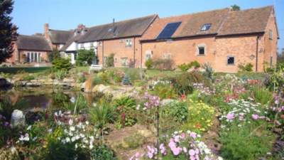 Rear of Oak Barn and The Granary cottages at Church House Farm Holiday Cottages